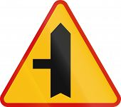 stock photo of priorities  - Polish danger warning sign - JPG