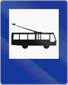 pic of motor-bus  - Polish traffic sign  - JPG