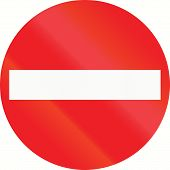 picture of no entry  - No entry sign in Austria at the exit of a one - JPG