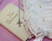 Christening Bonnet & Bible