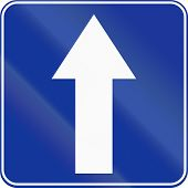 pic of traffic sign  - Polish traffic sign  - JPG
