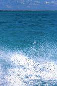image of gulf mexico  - ground in mexico froath and blue foam the sea drop sunny day - JPG