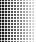 foto of dtp  - Vertically Seamless Black and White Dotted Pattern - JPG