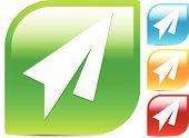 image of aeroplane symbol  - Bright Colorful Icons w - JPG