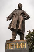 foto of lenin  - Lenin statue in a park in the Russia - JPG
