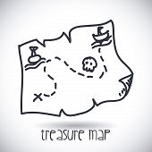 stock photo of treasure map  - treasure map design - JPG