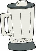 picture of blender  - Cartoon empty closed blender jar over white - JPG