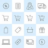 foto of gift basket  - Online shopping icons set - JPG