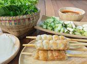 pic of sate  - Vietnamese Pork Sausage - JPG