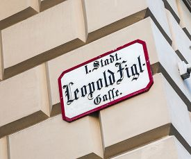picture of leopold  - Leopold Figl street in Vienna in first district - JPG