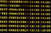 A Flight Information Board in the Airport