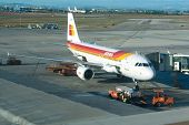 MADRID, SPAIN - JANUARY 20: Iberia Airlines could seal their merger agreement with British Airlines by February 2010,  creating the third largest airline by revenue on January 20, 2010 in Madrid, Spain