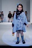 VALENCIA, SPAIN - JANUARY 23: FIMI Children's Winter Fashion Show with the designer Elisa Menuts on
