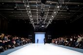 VALENCIA, SPAIN - FEBRUARY 3:  Models on the catwalk wear a Paco Roca design for the Valencia Fashio