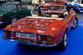 VALENCIA, SPAIN - OCTOBER 22: A British Triumph Spitfire 1500 is on display at the 2010 Motor Epoca