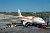 MADRID - APRIL 11: Executives of Iberia Airlines have a list of 12 airlines that they may buy that c