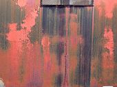 Weathered Red Paint poster
