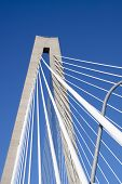detail of ravenel suspension bridge, charleston sc