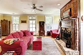 eclectic livingroom with antiques