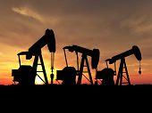 Sihouette Three Oil Pumps