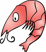 foto of googly-eyes  - Shrimp Cute friendly cartoon marine creature hand - JPG