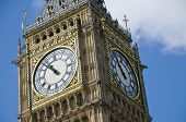 The clock tower of the Palace of Westminster in London, UK. It is commonly referred to as Big Ben al