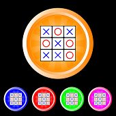 Tic tac toe buttons