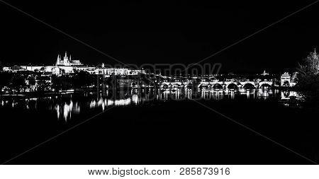 Famous Castle And Charles Bridge