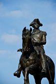 George Washington Statue Against The Blue Sky