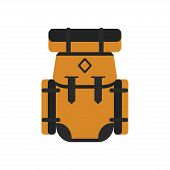 Camping Backpack. Camping. Backpack. Camping Backpack Isolated On White Background. Vector Illustrat poster