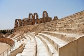 Roman Coliseum In Tunisia