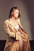 Fashion Portrait Of Woman. Beauty Salon And Hairdresser. Glamour Fashion Model. Woman. Autumn Fashio poster