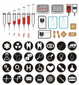 VECTOR - Set of more than 45 Medical Icons & Symbols