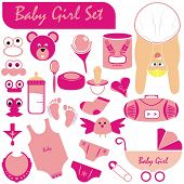 VECTOR - Baby Girl Set - Great Collection including (Baby Body & Face in nice position wearing diape