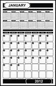 VECTOR - Calendar Design 2012 - January