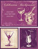 Wine vector backgrounds, great for invitations, wine cards and menus.