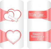 Collection Of Cute Heart Stickers For Wedding Or Valentine`s Day