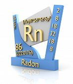 stock photo of rn  - Radon form Periodic Table of Elements  - JPG