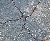 Texture Of Old Concrete. Cracks And Damage. Gray Concrete Background. poster