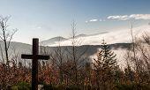 Autumn Moravskoslezske Beskydy Mountains Scenery From Hiking Trail Bellow Lysa Hora Hill In Moravsko poster