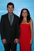 LOS ANGELES - JAN 6:  Jeff Lewis, Jenni Pulos arrives at the NBC Universal All-Star Winter TCA Party