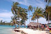 picture of mola  - island hut molas for sale panama 1011 - JPG
