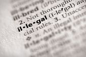 Dictionary Series - Law: Illegal