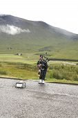 Bagpiping Busker