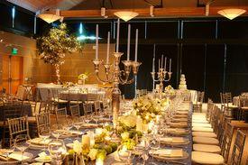 image of wedding table decor  - Table setting at a luxury wedding reception - JPG