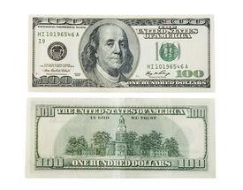 picture of one hundred dollar bill  - One hundred dollar on white - JPG