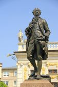 image of leipzig  - Goethe monument in front of the old Stock Exchange - JPG