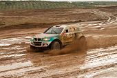 Portalegre, Portugal - November 3: Ricardo Porem Drives A Bomcar S1 Proto In Baja 500, Integrated On