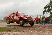 Portalegre, Portugal - November 3: Rui Sousa Drives A Isuzu D-max In Baja 500, Integrated On Fia Wor