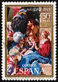 Postage stamp Spain 1969 Adoration of the Magi, Christmas